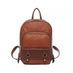 Keral Hot Sale Women PU Leather Popular Backpack Retro Bag Satchel Handbags - Brown,Size - Medium