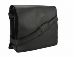 Visconti Leather Distressed Messenger Bag 18548-HARVARD (Oil Black)
