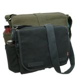 Rapid Dominance Classic Military Messenger Bag (19 inch, 2 Pack - Black and Olive)