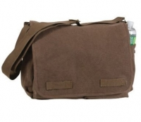 Rothco Vintage Classic Messenger Bag (Brown)