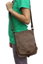 Otium 21223AMG Cotton Canvas Cross Body Small Messenger Bag Shoulder Handbag,Dark Grey