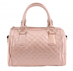 Scarleton Quilted Patent Faux Leather Satchel H106405 - Pink