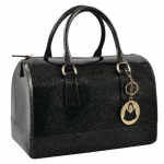 MG Collection HANNAH Glamorous Black Flirty Glitter Doctors Style Candy Hand Bag