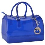 MG Collection HANNAH Glamorous Blue Flirty Doctors Style Candy Hand Bag