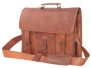 Passion Leather 16 Inch Vintage Look Leather Laptop Messenger Briefcase Satchel Office Bag