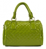 Scarleton Quilted Patent Satchel H106429 - Apple Green