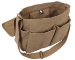 Mocha Classic Army Messenger Heavy Weight Shoulder Bag