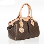 Leather Accents Daily Tote Handbag (beige)