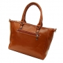SHENGXILU Women's PU Leather Handbag Brown