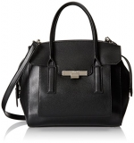 Nine West Strong Angles Satchel, Black, One Size