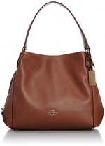 COACH Women's Refined Pebble Leather Edie 31 Shoulder Bag LI/Saddle Shoulder Bag