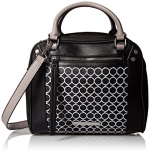 Nine West Fearless Remix Satchel Bag, Black/White, One Size