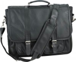 Embassy Genuine Black Leather Attache Case