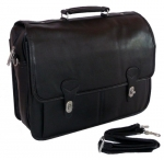 World Traveler Deluxe Doctor-Style Flap-Over Computer Briefcase