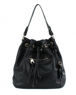 Scarleton Large Drawstring Handbag H107801 - Black