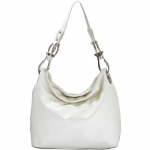 Large Faux Leather Handbag - White