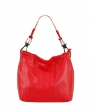 Large Faux Leather Handbag - Red