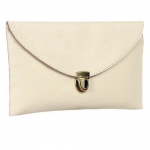 Womens Envelope Clutch Chain Purse Lady Handbag Tote Shoulder Hand Bag-White