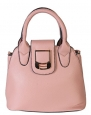 Diophy Ladies Fashion Mini Satchel Structured Handbag XB-2341 (Dark Pink)